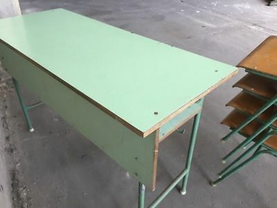 Vintage School Table Retro Iconic Statement Furniture Dining Side Display Desk