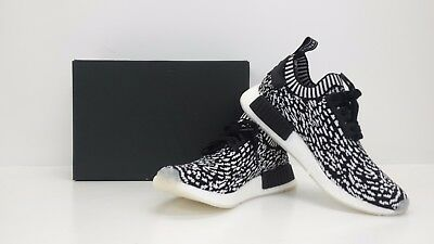 9caf593cd Adidas ORIGINALS NMD R1 PK PRIMEKNIT NOMAD BLACK WHITE BY3013 - BRAND NEW  IN BOX