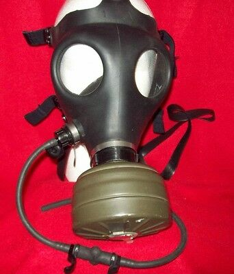 Israeli Military Surplus Gas Mask W/ Hydration Tube Nato Filter Adult Size 1
