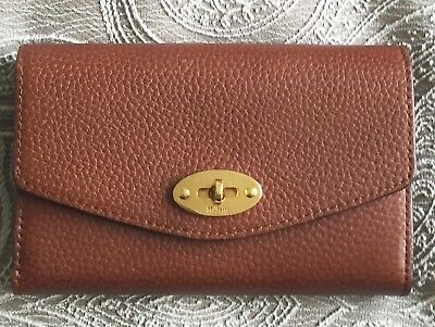 Mulberry Daria Continental Purse Wallet In Spongy Pebbled Oak Leather.