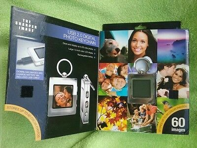 New Usb 2.0 Digital 60 Photo Keychain By The Sharper Image-Silver