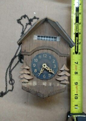 Small German Chalet Cuckoo Clock - INCOMPLETE / FOR REPAIR