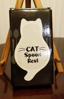"New Cat Spoon Rest ""Cat Lady Box"" Kitchen"