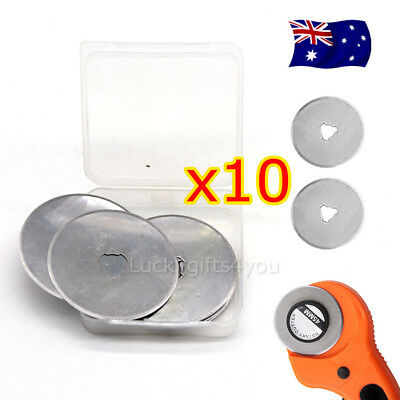 10 45mm Circular Cutting Rotary Cutter Refill Blades Sewing Quilting Tool FA346