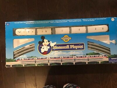 USED. Disney Parks Mickey & Friends Blue Monorail Playset Train Toy
