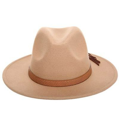 Young Cute Child Boy Gril Medium Brim Wool Felt Panama Hat Warm Jazz Fedora Cap