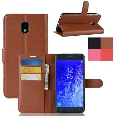 For Samsung Galaxy J3 J6 J7 2018 Luxury PU Leather Flip Wallet Stand Case Cover