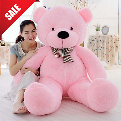 Giant Plush Teddy Bear Stuffed Animal Soft Toy Girls Valentines Day Gift 47""
