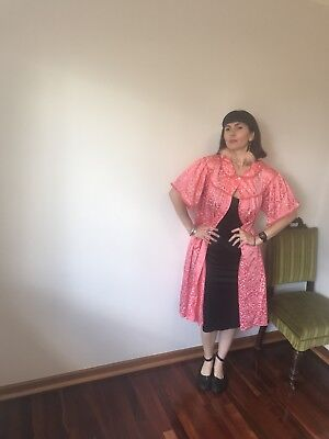 Vintage Fashioned By Sandra Pink Floral Nightgown