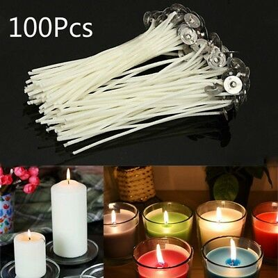 100Pcs / Pack 10cm Candle Wicks Cotton Core Pre Waxed para hacer velas DIY BC
