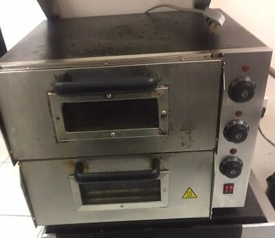 """Commercial Electric Pizza Oven Double Deck Electric 2x16"""" Pizza Single Phase"""