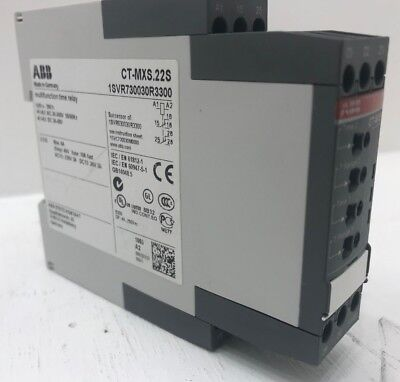ABB multifunction Timer relay 1SVR730030R3300 type CT-MXS.22S time delay on off