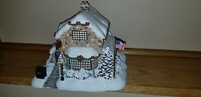 "Thomas Kinkade Limited Edition Lighted ""Post Office"" New in Box"