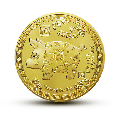 2019 Year of the Zodiac lucky doll Commemorative coin Golden Pig New Year Gift