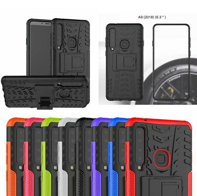 for Samsung Galaxy A9 (2018) Case Hybrid Tough Armor Kickstand Protective Cover
