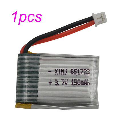 3.7V 150mAh 25C 651723 JST-PH 1.25mm Rechargeable Polymer LiPo battery for Drone