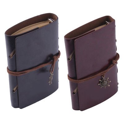 Vintage Style Retro Leather Journal Travel Notebook Blank Diary Life Sketchbook