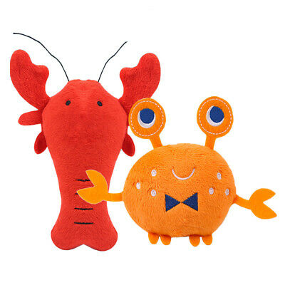 Soft Plush Dog Toys Cartoon Lobster Crab Squeaky Toys Interactive Pet Puppy Toys