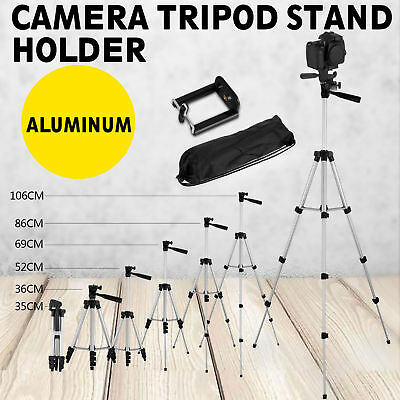 Professional Camera Tripod Stand Mount + Phone Holder for Cell Phone iPhone +Bag