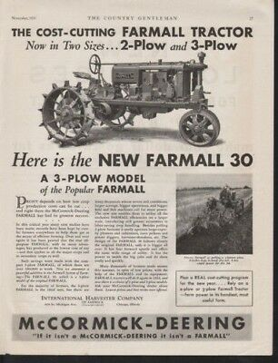 1931 International Harvester Farmall 30 Gas Tractor Ad12796