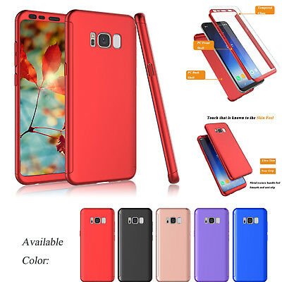 For Samsung Galaxy S8 PLUS 360° Full Body Shockproof Case Cover+Screen Protector