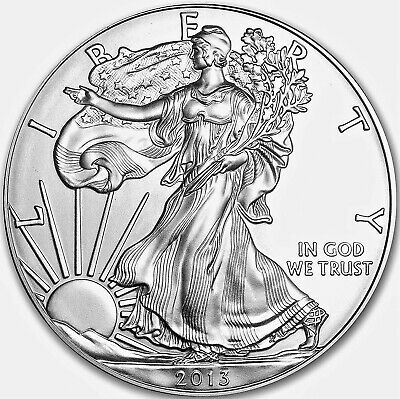 2013 American Silver Eagle Dollar USA Coin 1 Troy Ounce .999 Fine Silver GEM BU