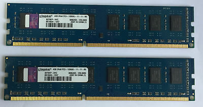 Ram/Memory Kingston 4GB/8GB DDR3-1600 PC3-12800U CL11 1.5V DIMM for Desktop PC