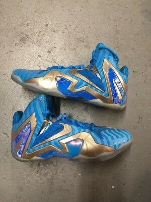 NIKE LeBron 11 XI ELITE Collection Blue Hero Metallic Zinc Maison Du Size 10 6ffbe9e26