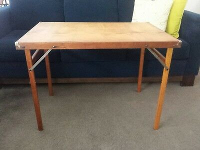 Vintage retro folding wooden games / picnic / card table