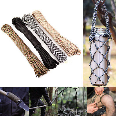 -100FT 550 Paracord Parachute Cord Rope Lanyard Mil Spec Type III 7 Strand Core-
