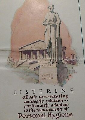 Vtg Listerine Broucher 16 Pages Booklet Pamphlet Personal Hygiene Lambert 1920s