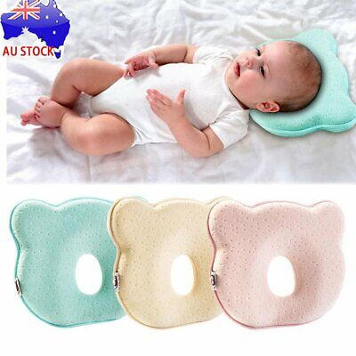 Baby Infant Cot Pillow Preventing Flat Head Neck Syndrome for newborn Girl Boy d