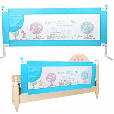 1.8m Swing Down Safety Bed Guard Toddler Baby Bedrail Fold Cot Guard Protection