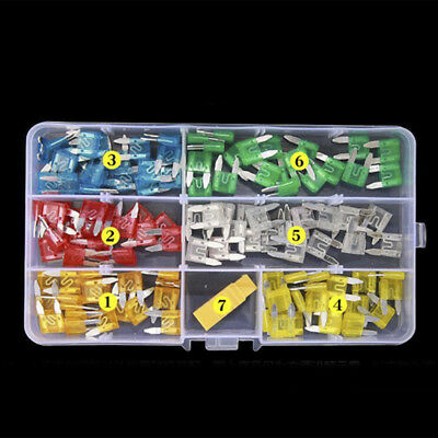 120pcs Assortment Set Mini Blade Fuse Auto Car Motorcycle Boat FUSES Kit APM ATM