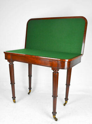 Antique / William Iv Mahogany Card Table Circa 1830 / Games Table