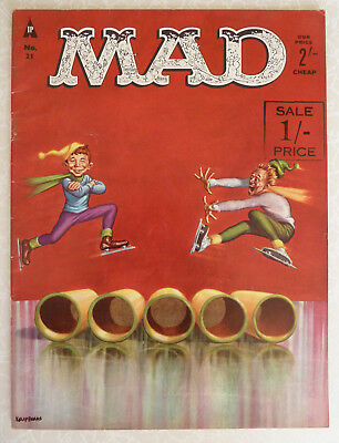 MAD Magazine - UK Issue No: 21 1962 - Ice Skating Stunt - UK EDITION