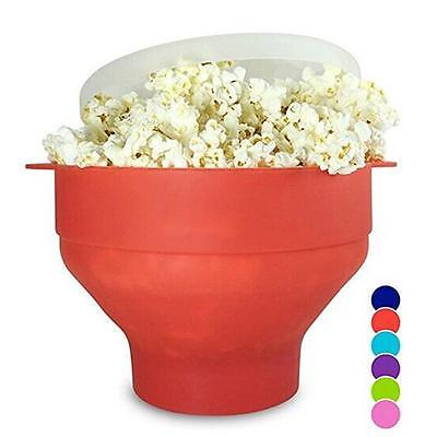 Foldable Collapsible Silicone Microwave Popcorn Popper / Popcorn Maker Bowl MA