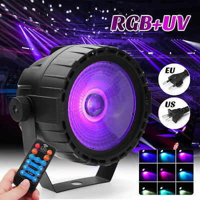 RGB + UV 30W COB LED  Stage Strobe Lighting DMX Remote DJ Bar Disco KTV Party
