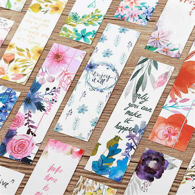 30 Pcs Flowers Bookmarks Book Notes Paper Page Holder for Books School Supplies