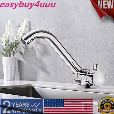 RV Caravan Boat Kitchen Foldable Faucet Hot Cold Water 360° Rotation Folding Tap