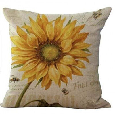 (5) - Oil painting sunflower Throw Pillow Case Cushion Cover Decorative Cotton