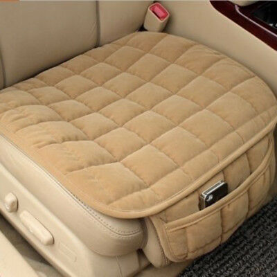 Breathable Plush Car Front Seat Cover Pad Mat for Auto Chair Cushion Beige ~Hot