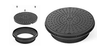 CD352 3.5T Dual Lock Plastic Driveway 300MM Round Circular Manhole Cover & Frame
