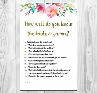 How Well Do You Know The Bridegroom Bridal Shower Kitchen Tea