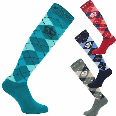 12Prs Women/'s Argyle Horse Design Horse riding Socks Ladies Knee high Socks Lot
