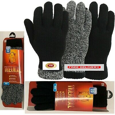 Men's Thermal Deep Cushioning Super Brushed Inner Gloves 2.3 Tog Rated Glad1803