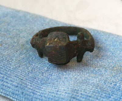 Ancient Roman Legionary Bronze Ring Legion V MACEDONICA