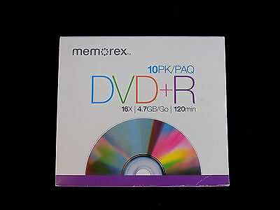 RECORDABLE DVD's Memorex 4.7Gb/16x DVD-R 9-Pack 120 Min Set of 9 DVR's