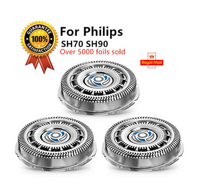 3 x Shaver Head Razor Blades Compatible - Philips SH90/SH70 SH7000/9000 Series