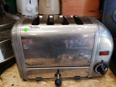 Vintage Silver Dualit 4 Slice Toaster. Only 2 Working!